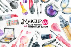 Watercolor Makeup v.2 by OctopusArtis on Creative Market