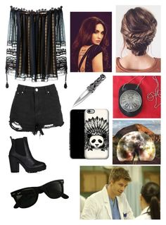 """""""SHIELD"""" by quicksilver15 ❤ liked on Polyvore featuring Chloé, Boohoo and Ray-Ban"""