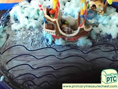 Transport Themed Mark Making Area Ideas / Tuff Tray Activities - Primary Treasure Chest Sand And Water, Water Play, Transport Topics, Tuff Tray, Crafts For Kids, Arts And Crafts, Sea Fish, Eyfs, Mark Making