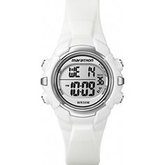 Timex Women's Marathon T5K8069J Indiglo White Digital Sport Watch -- Want to know more, click on the image.