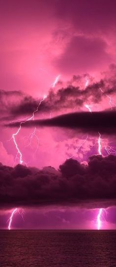 Pink lightning and sky! Love everything pink!!!