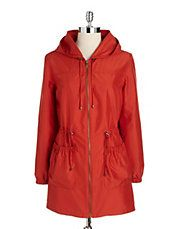 Plus Hooded Cargo Anorak Jacket | Lord and Taylor $109