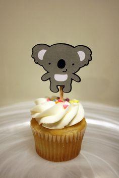 Kool Koala Cupcake Toppers / Cake Toppers / by Foolishworkerbee.......aaaawwww so cute!!!!