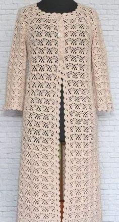 Fabulous Crochet a Little Black Crochet Dress Ideas. Georgeous Crochet a Little Black Crochet Dress Ideas. Crochet Jacket Pattern, Gilet Crochet, Crochet Coat, Cardigan Pattern, Crochet Cardigan, Crochet Lace, Crochet Patterns, Knitted Coat, Crochet Shoes