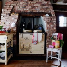 Another reason I love Aga - high class but looks perfectly at home in a rustic setting.  Just like me ;-) @AGA MARVEL Cooking + Refrigeration #Aga #AgaLove