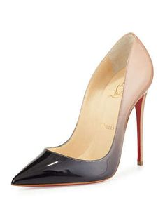 So Kate Degrade Red Sole Pump, Black/Nude by Christian Louboutin at Neiman Marcus.