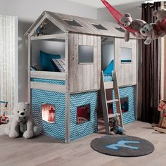 Phenomenal 18 Fun Kids Bunk Beds Idea https://mybabydoo.com/2018/01/29/18-kids-bunk-beds-idea/ Do you have more than one kids yet no extra room at the home? Don't worry, since we can always make kids bunk beds, a solution for the sleeping room that doesn't need so much space at your home.