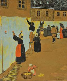 La Fête-Dieu à Châteauneuf-du-Faou by Paul Serusier (French, 1864 – 1927)