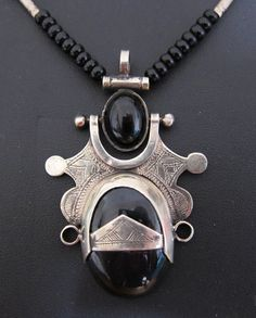 Tuareg Amulet with Onyx made of Tuareg Silver by TuaregJewelry, $107.00