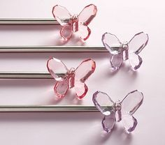 I really want the pink butterfly curtain rod for Blair's room! However, I refuse to pay 80.00 for a curtain rod!