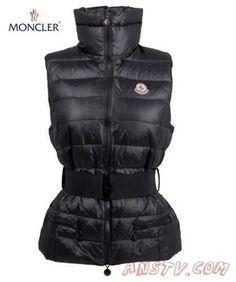 848aa7f6adb Blouson hiver Moncler Femmes Gaelle down body warmer Vest In Noir