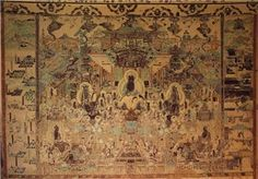 Paradise of Amitabha, Cave 172, Dunhuang, China Tong dynasty. 10' high. living in western pure land.
