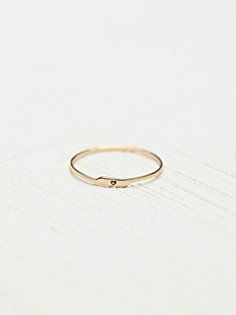 Etched Letter Ring -free people site