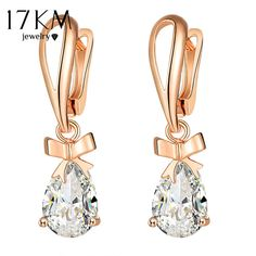 672b156b8 US $2.29 35% OFF|Aliexpress.com : Buy 17KM New Fashion Bowknot Drop Dangle  Earrings For Women 2 Color Women Earring Crystal Vintage Female Statement  Jewelry ...