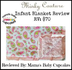 @Minky Couture  Blanket Review. Infant Blanket.