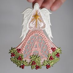 Free! New alphabet -Angel of Christmas Ornament Alphabet- A-  from Sonia Showalter Designs...breathtaking!