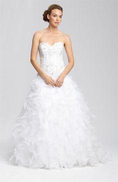 Faviana 'Thalia' Ruffle Organza Gown #wedding
