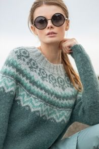 no - anja-genser-dsa Fair Isle Knitting, Hand Knitting, Drops Karisma, Drops Alpaca, Icelandic Sweaters, Nordic Sweater, Fair Isle Pattern, Drops Design, Ravelry