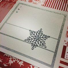 Elegant #julekort med #blingbånd og #dies hos #hobbykunst #hobbykunstnorge laget av Sissel