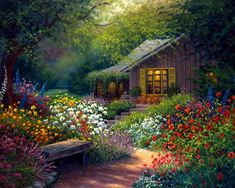 Epiphany ~*~ On. Cottage ArtFairytale CottageGarden ...