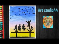 Friends Drawing for kids step by step-Beginners- Easy oil pastel drawing-how to draw friends Friends Youtube, Oil Pastel Drawings, Drawings Of Friends, Drawing For Kids, Easy, Painting, Drawing For Children, Painting Art, Paintings