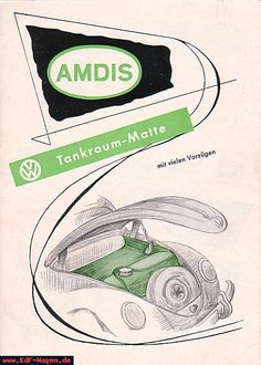 VW - 1954 - AMDIS Tankraum Matte - [5946]-1