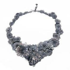Nora Rochel Necklace: Dandelions 2013 Fair Trade Silver, blackened