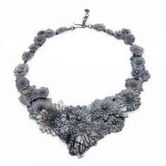 Nora Rochel Necklace: Dandelions 2013 Fair Trade Silver, blackened