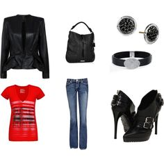 My tough girl outfit, created by libby-wessels on Polyvore