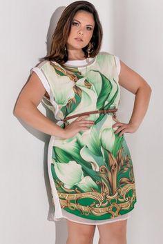 Vestido Plus Size Renata Green Vestidos Plus Size, Plus Size Dresses, Plus Size Outfits, Dresses For Work, Plus Size Chic, Look Plus Size, Plus Size Beauty, Plus Size Fashion For Women, Beautiful Outfits