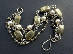 Pyrite Bracelet Triple Strand