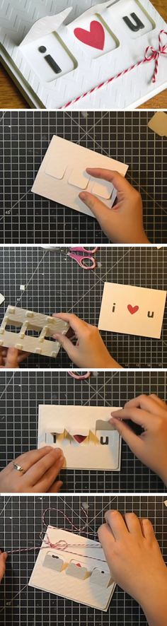 Peek A Boo Card | DIY Valentines Cards for Him | DIY Fathers Day Cards from Daughter