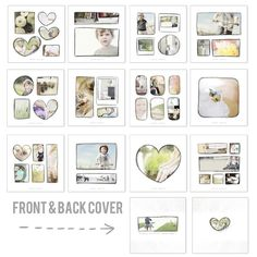 Templates for 365 photo book, blurb compatible! Album Design, Book Design, Web Design, Graphic Design, 365 Photo, Project 365, Book Layout, Photo Layouts, Photo Memories