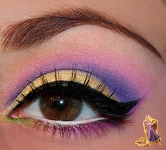 Beauty Disney Inspired Makeup : Rapunzel from Tangled - Luhivy's favorite things Wedding Bands - Var Rapunzel Makeup, Disney Eye Makeup, Disney Inspired Makeup, Disney Princess Makeup, Rapunzel Costume, Disney Rapunzel, Tangled Rapunzel, Nerd Makeup, Cute Makeup