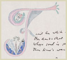 "Lucia Joyce Lettrines - Art & Illuminated Letters - for ""Pomes Penyeach"" written by her father James Joyce"