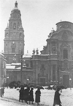 Nevada en Murcia, año 1950.