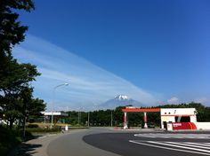 Nice blue sky with Mt.Fuji.