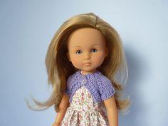 "Doll Bolero, free pattern downsized to 14"" dolls"