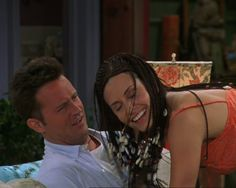 """Monica's hair beads. Lol! """"It's a feast 4 the eyes AND the ears!"""" I love this episode"""