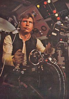 Harrison Ford as Han Solo - Star Wars 1977 Star Wars Film, Star Wars Art, Star Trek, Star Wars Han Solo, Darth Maul, Tv Sendungen, Film Science Fiction, Starwars, Plakat Design