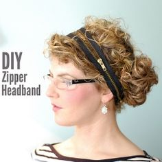How to make a headband from a zipper-- all you need is the zipper and some bobby pins! #craftgawker