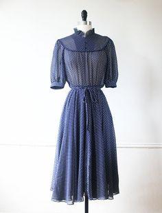 Vintage Japanese Dress Vintage Dress 70s Dress by StandardVintage, $72.00