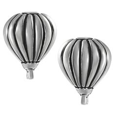 Journee Collection Sterling Silver Hot Air Balloon Stud Earrings