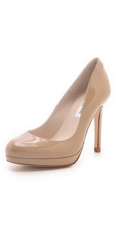 Kate Middleton's go to shoe: L.K. Bennett Patent Platform Pump in Nude (bought from ebay forever ago and have worn to death!)