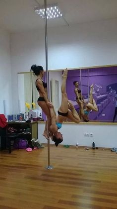 Pole dance doubles. Will you dare?