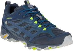 Merrell Men's Moab FST WP Low Hiking Shoes Navy 12 Wide