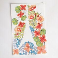 Floral Illustration by Madeline Trait.
