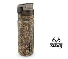 3Sixty Pour Realtree Max-5© Camo (40oz) -- 3SIXTY POUR™ is the king of all-day-hot beverage containers. It's simply the best insulation and lid design you'll ever experience—meaning you can finally say goodbye to that dented green antique forever. AVEX's thermal top makes pouring hot liquids easier with a secure screw-pour top that pours from any angle yet will never fall out or get lost.
