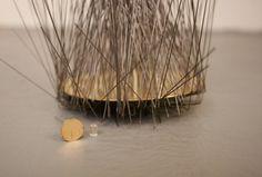 Bouton d'or | Annie Sibert nano laser engraved gold button