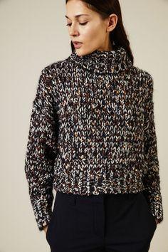 Shirt Dress, Blouse, Turtlenecks, Lana, Fur, Wool, Knitting, Long Sleeve, Unique